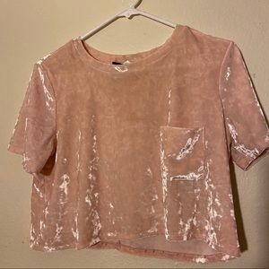 Forever 21 pink polyester crop top